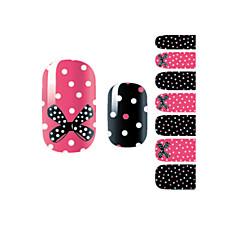 yemannvyou®14st mode bowknot&fläck nagelkonst glitter dekal B1030