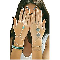 cheap Bracelets-Shixin® Fashion Handmade Blue Turquoise Alloy Charm Bracelet(Golden,Silver,Bronze)(1 Pc)