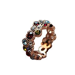 عصابة يوميا / فضفاض مجوهرات سبيكة / حجر الراين نساء خواتم بيان 1PC,8 ألوان متنوعة