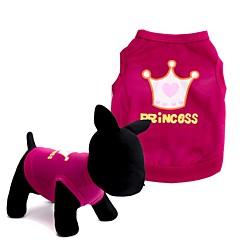 お買い得  犬用ウェア&アクセサリー-犬 Tシャツ ベスト 犬用ウェア ティアラ、クラウン レッド ピンク テリレン コスチューム ペット用 男性用 女性用 キュート ファッション