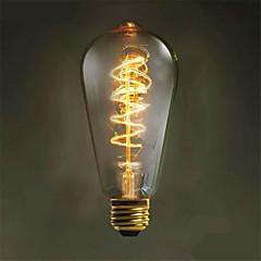 e27 40w 500lm 3000-3500k st64 volfrámmag meleg lámpa izzó (ac 220-240v)