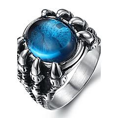 olcso Férfi ékszerek-Férfi Gyűrű Nyilatkozat gyűrű Fekete Piros Kék Szintetikus drágakövek Titanium Acél Divat Napi Hétköznapi Jelmez ékszerek