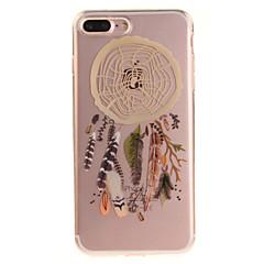 Недорогие Кейсы для iPhone 7-Кейс для Назначение IPhone 7 / iPhone 7 Plus / iPhone 6s Plus IMD / Прозрачный / С узором Кейс на заднюю панель Ловец снов Мягкий ТПУ для iPhone SE / 5s