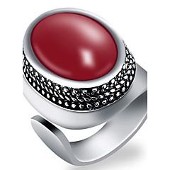 tanie Biżuteria męska-Męskie Pierscionek - Modny Black Czerwony Green Niebieski Pierścień Na Impreza Codzienny Casual Sport