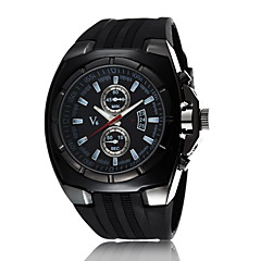 cheap Watch Deals-Men's Quartz Military Watch Sport Watch Calendar / date / day Water Resistant / Water Proof Genuine Leather Band Casual Dress Watch