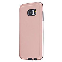 Mert Porálló Case Hátlap Case Egyszínű Kemény Szilikon mert Samsung S7 edge S7 S6 edge S6