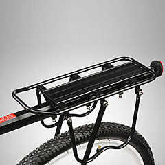 abordables Bastidores Frontales y Posteriores-Bastidor de carga de bicicleta / Portabultos Carga Máxima 50 kg Ajustable / Fácil de Instalar Aleación de aluminio Bicicleta de Montaña - Negro