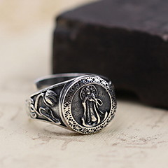 お買い得  指輪-男性用 / 女性用 指輪 - 純銀製 オープン ワンサイズ シルバー 用途 日常 / カジュアル