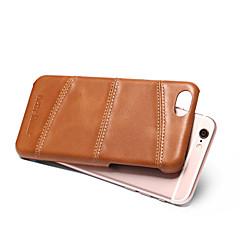 Недорогие Кейсы для iPhone-Кейс для Назначение Apple iPhone 8 iPhone 8 Plus Защита от удара Кейс на заднюю панель Сплошной цвет Твердый Настоящая кожа для iPhone 8