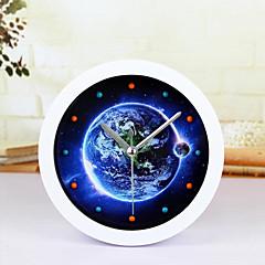 creatieve klok van de aarde bureauklok bureau wekker tafelklok creatieve thuis decoratieve manier mute horloges