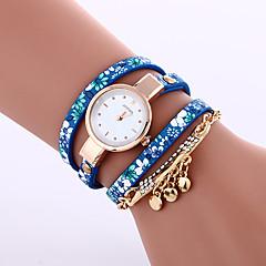 voordelige Armbandhorloges-Dames Armbandhorloge Modieus horloge Kwarts Vrijetijdshorloge Leer Band Elegant Zwart Blauw Grijs