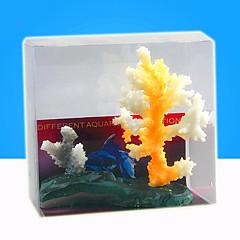 Dekoracja Aquarium Koralowy Srebrzysty Żywica