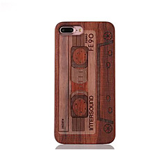 For Stødsikker Præget Mønster Etui Bagcover Etui Tegneserie Hårdt Træ for AppleiPhone 7 Plus iPhone 7 iPhone 6s Plus/6 Plus iPhone 6s/6