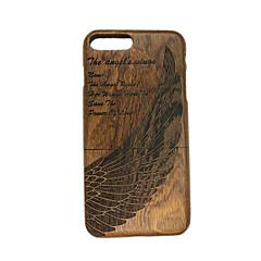 Для Рельефный Кейс для Задняя крышка Кейс для Перо Твердый Дерево для Apple iPhone 7 Plus