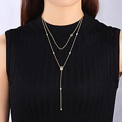 Ожерелья-цепочки Бижутерия Одинарная цепочка Стерлинговое серебро Базовый дизайн Уникальный дизайн Мода Бижутерия Назначение Повседневные