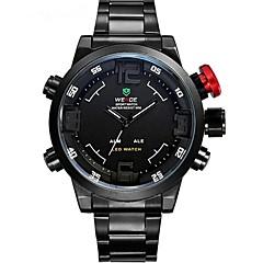 abordables Weide-WEIDE Hombre Reloj Deportivo Reloj de Pulsera Reloj de Moda Cuarzo Cuarzo Japonés Despertador Calendario Cronógrafo Resistente al Agua