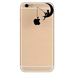 Недорогие Кейсы для iPhone 7-Кейс для Назначение Apple iPhone 7 / iPhone 7 Plus / iPhone 6 Ультратонкий / С узором Кейс на заднюю панель Композиция с логотипом Apple Мягкий ТПУ для iPhone 7 Plus / iPhone 7 / iPhone 6s Plus