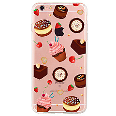 For iPhone 7 Case iPhone 6 Case iPhone 5 Case Pattern Case Back Cover Case Food Soft TPU for AppleiPhone 7 Plus iPhone 7 iPhone 6s Plus