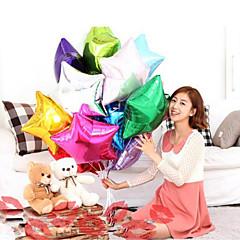 10db kétféle alakú 10 inch léggömb csillag esküvő nagy alumínium fólia léggömbök ajándék születésnapi party ballonnal dekoráció labda