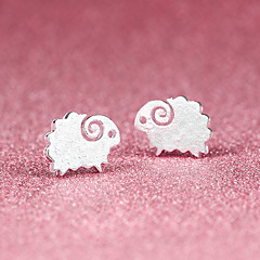 Stud Earrings Cute Style Costume Jewelry Silver Silver Plated Animal Shape Sheep Jewelry For Party Daily Casual