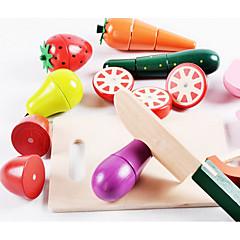 Χαμηλού Κόστους -Παιχνίδια ρόλων Παιχνίδια Λαχανικά Παιχνίδια Φρούτο Πρωτότυπες Προσομοίωση Ξύλο Αγορίστικα Κοριτσίστικα 1 Κομμάτια