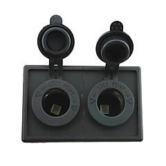 Недорогие Автоэлектроника-12v / 24v 2pcs адаптер прикуривателя разъем питания с держателем корпус панель для автомобиля лодки грузовик с.в.