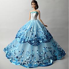 abordables Ropa para Barbies-Fiesta/Noche Vestidos por Muñeca Barbie  Organdí Lentejuela Vestido por Chica de muñeca de juguete