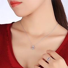 Кулоны В форме короны Стерлинговое серебро Базовый дизайн Уникальный дизайн Мода Бижутерия Назначение Повседневные