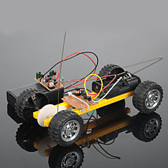 Crab Kingdom Model Assembled DIY Toy Car Assembly Toy Car Two Remote Control Car Material Package (Plastic Wheels)