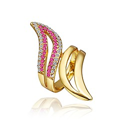 tanie Biżuteria damska-Damskie Pierscionek Cyrkonia Różowe złoto Cyrkon Pozłacane Stop Biżuteria Codzienny Casual