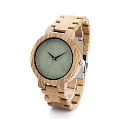 お買い得  レディース腕時計-女性用 ファッションウォッチ 腕時計 ウッド クォーツ / ウッド バンド カジュアルスーツ カーキ