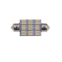 preiswerte Autozubehör-SENCART 2pcs 41mm / 39mm Auto Leuchtbirnen 4W SMD 3014 380-450lm 27 Innenbeleuchtung