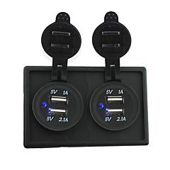 Недорогие Автоэлектроника-12v / 24v 2pcs 3.1a USB разъем питания с держателем корпус панель для автомобиля лодки грузовик с.в.