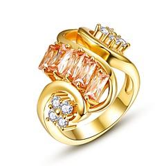 Ringen Zirkonia Dagelijks Causaal Sieraden Zirkonia Koper Verguld Roos verguld Dames Ring 1 stuks,8 Goud Rose Geel Goud