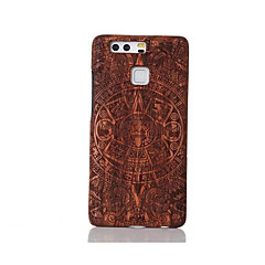 For Shockproof Embossed Pattern Case Back Cover Case Constantine Hard Solid Wood for Huawei P9 Huawei P9 Lite