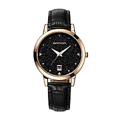 お買い得  レディース腕時計-女性用 機械式時計 クォーツ 模造ダイヤモンド / PU バンド ハンズ カジュアル ファッション ドレスウォッチ ブラック / 白 / ブルー - レッド ブルー ピンク