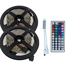 tanie Taśmy świetlne RGB-10m 3528 600 SMD RGB IP44 AC 100-240V z 44 kluczy zdalnego zestawu oświetleniowego