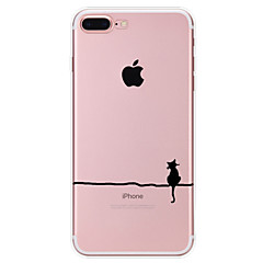 Case Kompatibilitás Apple iPhone X iPhone 8 iPhone 7 iPhone 6 iPhone 5 tok Minta Hátlap Cica Puha TPU mert iPhone X iPhone 8 Plus iPhone