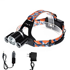 U'King Lampes Frontales LED 5000 Lumens 4.0 Mode Cree XP-G R5 Cree XM-L T6 Batteries non incluses Taille Compacte Transport Facile pour