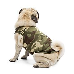 Χαμηλού Κόστους Ρούχα και αξεσουάρ για σκύλους-Γάτα Σκύλος Φανέλα Πουλόβερ Veste Ρούχα για σκύλους Κλασσικό Χαριτωμένο Καθημερινά Γιορτή Μοντέρνα Αθλήματα καμουφλάζ Μαύρο Πορτοκαλί