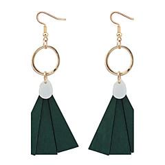 Κρεμαστά Σκουλαρίκια Κρίκοι Απομίμηση Μαργαριταριού Χαλκός Cowry μινιμαλιστικό στυλ Μαύρο Κόκκινο Πράσινο Κοσμήματα Causal 1 ζευγάρι