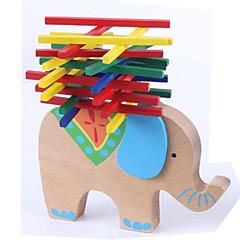 preiswerte -Stapelspiele Spielzeuge Stapelturm Spielzeuge Neuartige Elefant Tier Holz Zeichentrick 1 Stücke Jungen Mädchen Geschenk