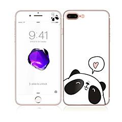 για Apple iPhone 7 συν 5.5 γυαλί με το μπροστινό μαλακό άκρο πλήρη κάλυψη της οθόνης και πίσω οθόνη μοτίβο προστάτη panda