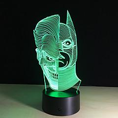 주도 야간 조명 차원이 얼굴 아크릴 변색 화려한 분위기 램프 참신 조명 창조적 인 차원 환상 램프