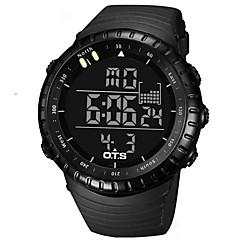 Męskie Sportowy Zegarek na nadgarstek Japoński Kwarcowy Cyfrowe LED Wodoszczelny Srebrzysty Stoper Plastic Pasmo Na co dzień Ekskluzywne