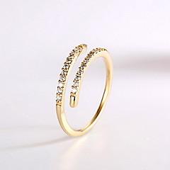 preiswerte Ringe-Damen Ring Personalisiert Ohne Verschluss Modisch Einstellbar Roségold Zirkon Kubikzirkonia Aleación Schmuck Alltag Normal