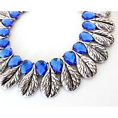 お買い得  ネックレス-女性用 ストランドネックレス  -  オリジナル, ぜいたく, 欧風 ライトブルー ネックレス ジュエリー 用途 パーティー, 婚約 / ジェムストーン
