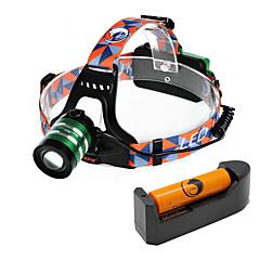 U'King Czołówki Reflektor LED 1000 lm 3 Tryb Cree XM-L T6 z baterią i ładowarką Zoomable Regulacja promienia Łatwe przenoszenie High Power