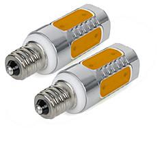 3W E12 Ampoules Maïs LED 5 diodes électroluminescentes COB Blanc Chaud Blanc Froid 200-250lm 3000/6000