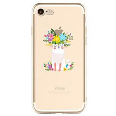 お買い得  iPhone 5S/SE ケース-ケース 用途 Apple iPhone X / iPhone 8 Plus / iPhone 7 パターン バックカバー Appleロゴアイデアデザイン ソフト TPU のために iPhone X / iPhone 8 Plus / iPhone 8